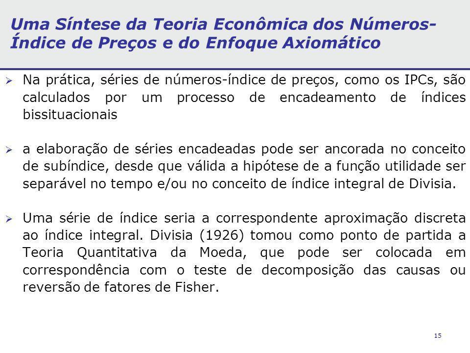 Uma Síntese da Teoria Econômica dos Números- Índice de Preços e do Enfoque Axiomático
