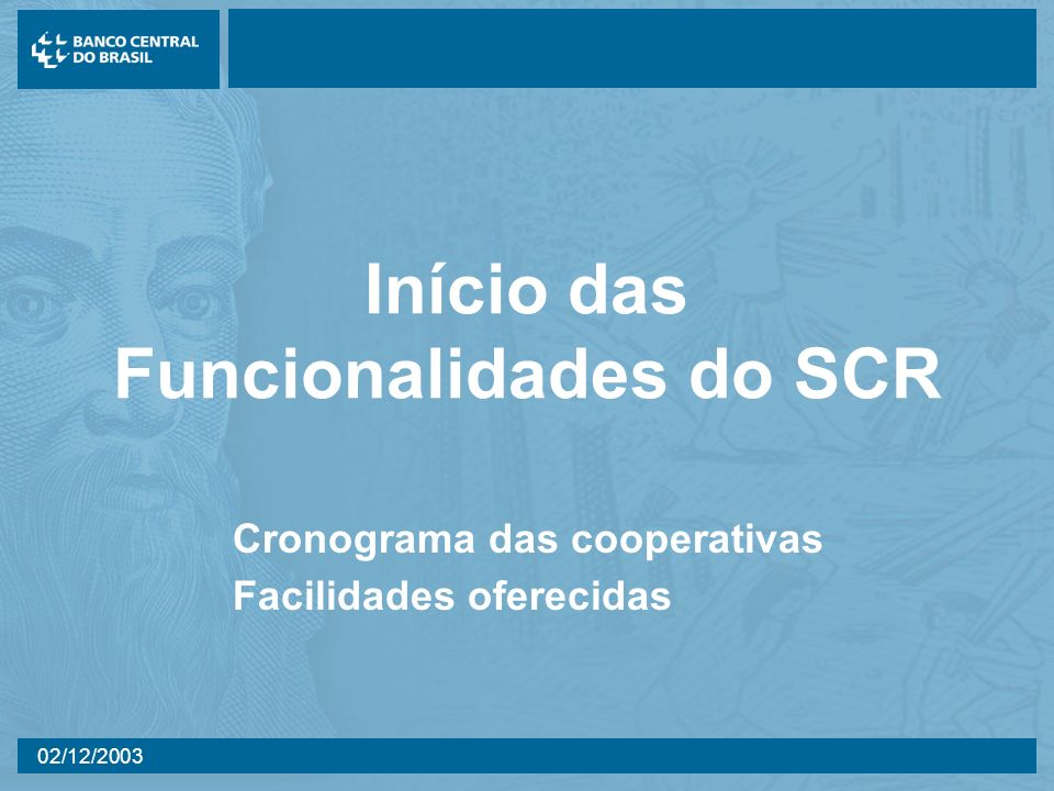 Início das Funcionalidades do SCR