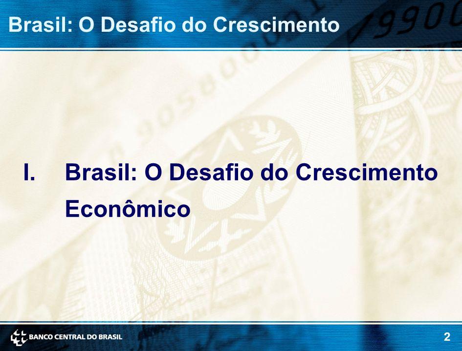 Brasil: O Desafio do Crescimento Econômico