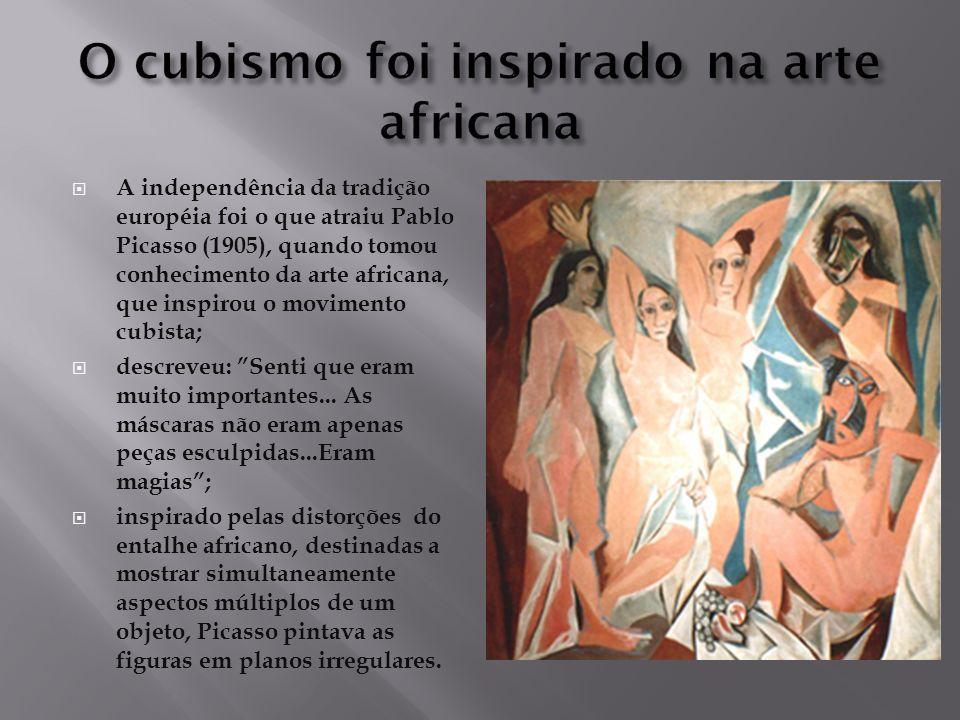 O cubismo foi inspirado na arte africana