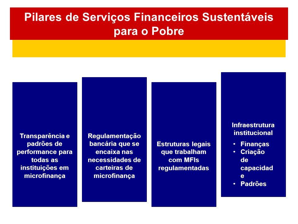 Pilares de Serviços Financeiros Sustentáveis para o Pobre