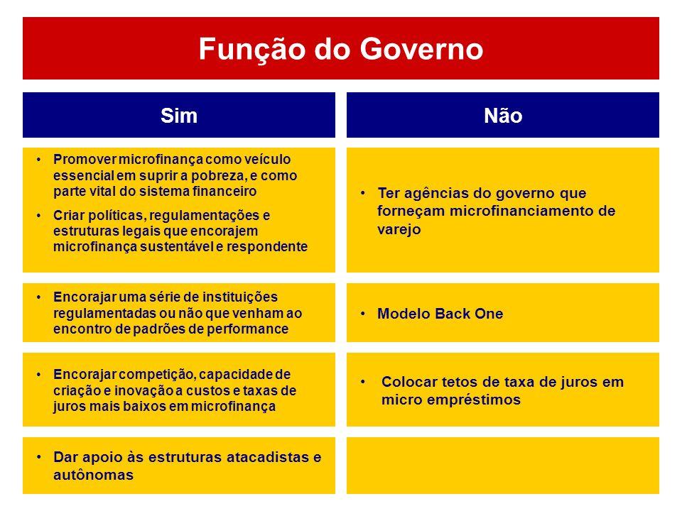 Função do Governo Sim Não