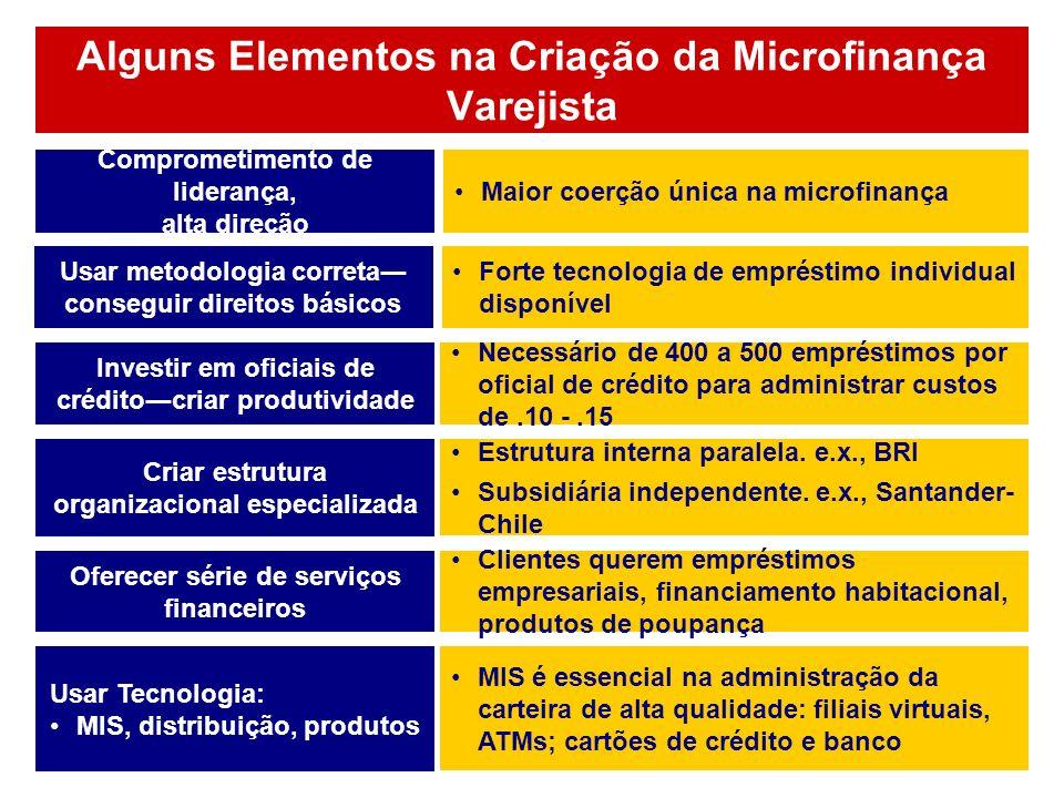 Alguns Elementos na Criação da Microfinança Varejista