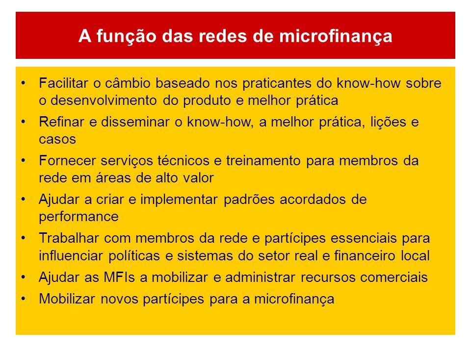 A função das redes de microfinança
