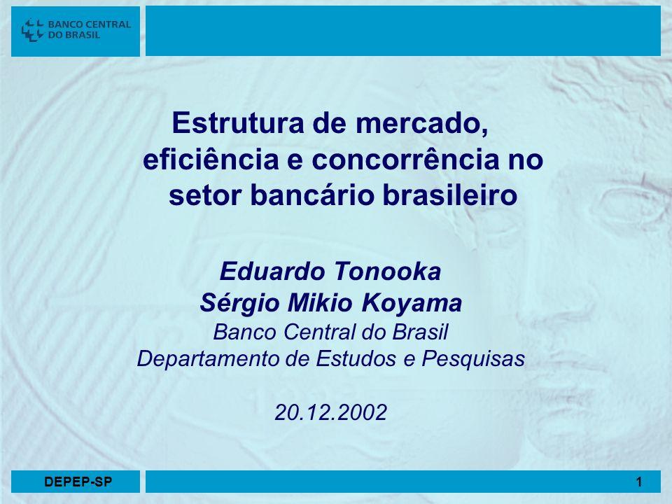 Estrutura de mercado, eficiência e concorrência no setor bancário brasileiro