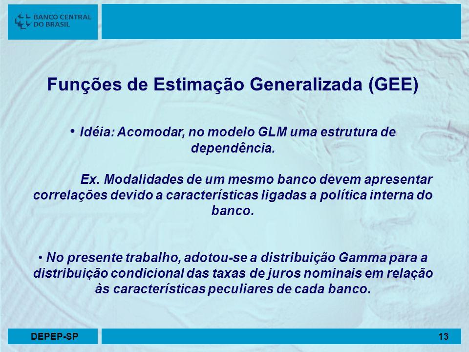 Funções de Estimação Generalizada (GEE)