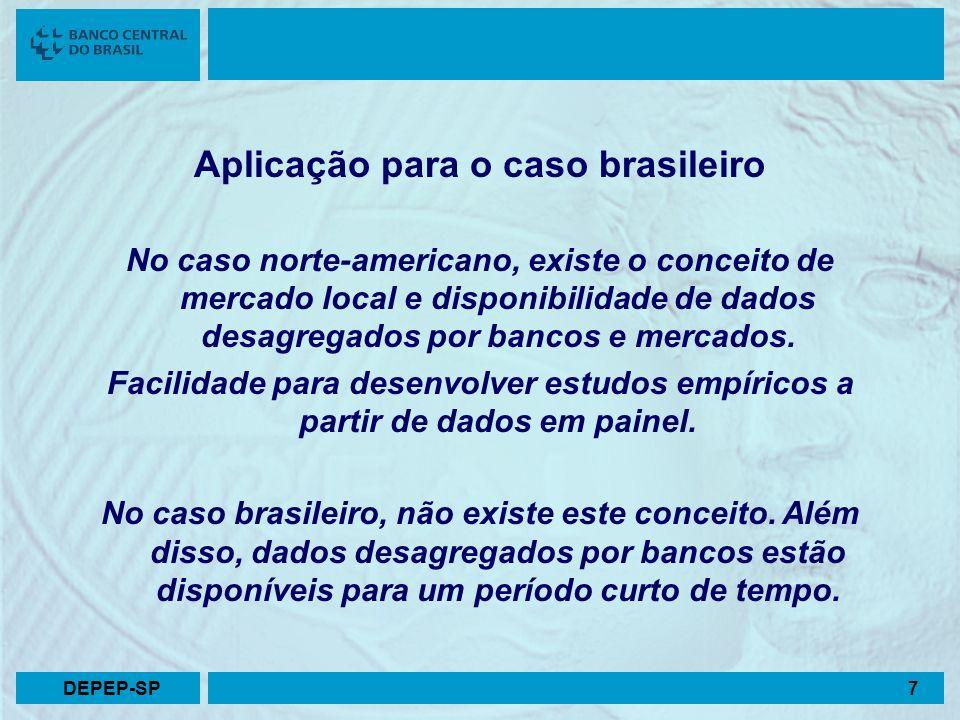Aplicação para o caso brasileiro