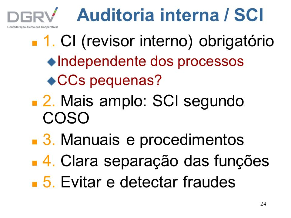 Auditoria interna / SCI
