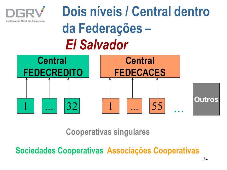 Dois níveis / Central dentro da Federações – El Salvador