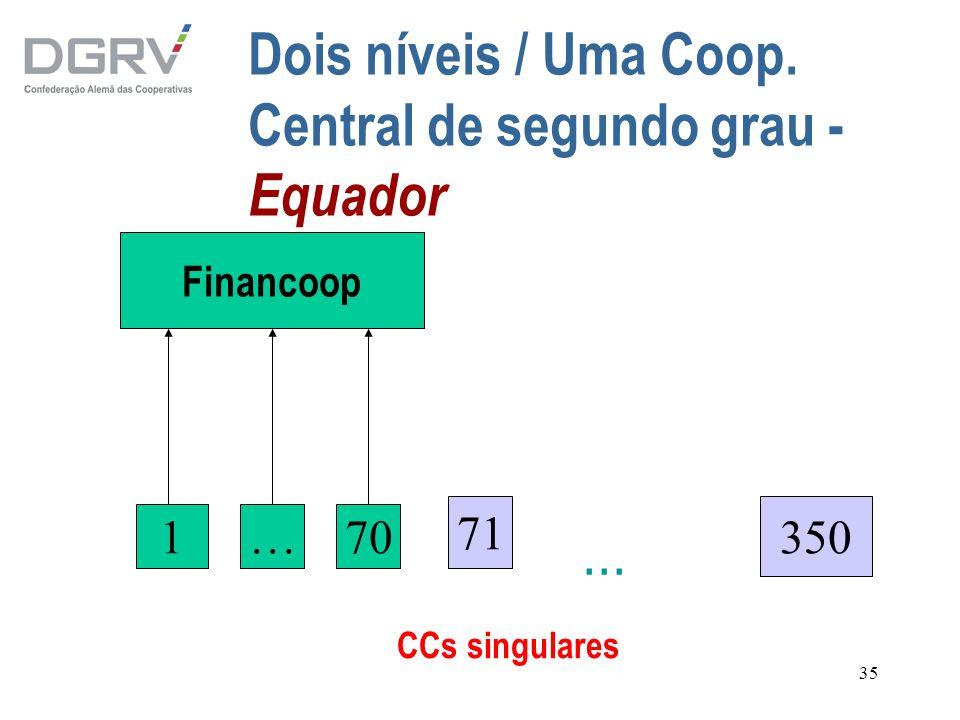 Dois níveis / Uma Coop. Central de segundo grau - Equador