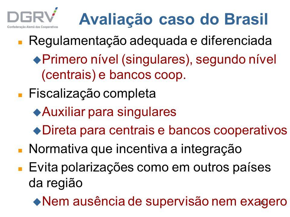 Avaliação caso do Brasil