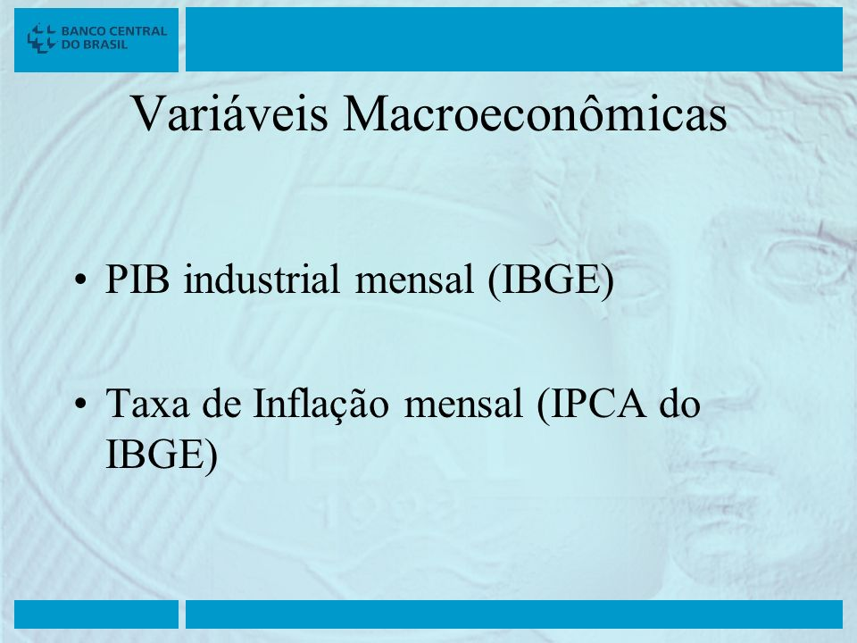 Variáveis Macroeconômicas