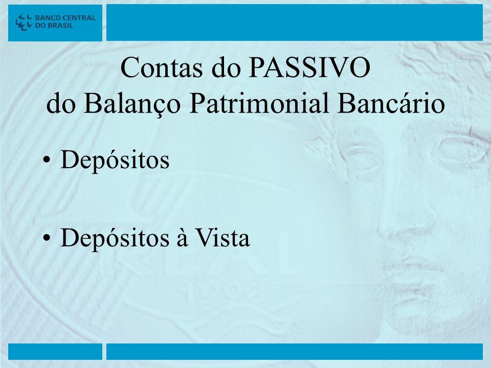 Contas do PASSIVO do Balanço Patrimonial Bancário