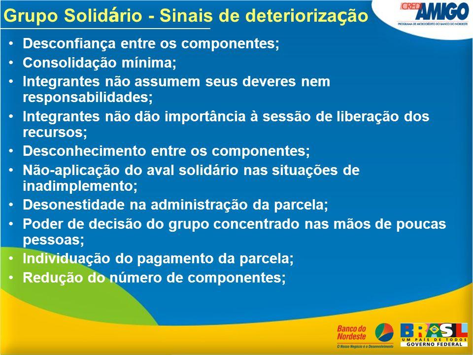 Grupo Solidário - Sinais de deteriorização