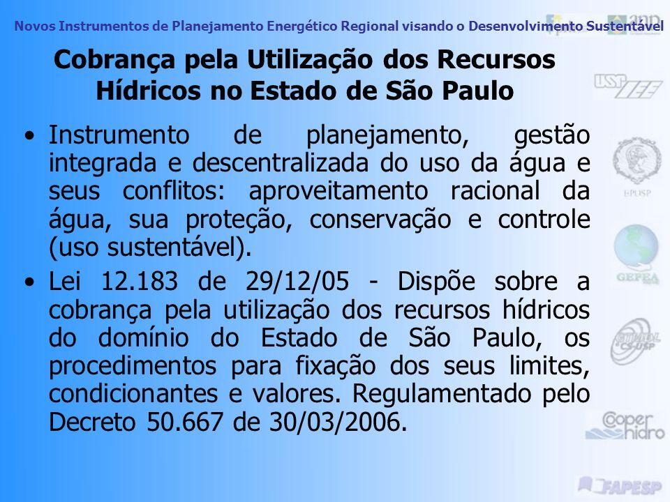 Cobrança pela Utilização dos Recursos Hídricos no Estado de São Paulo