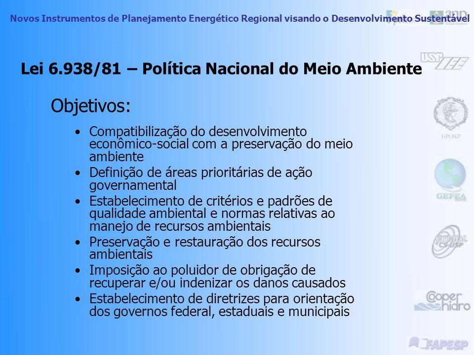 Lei 6.938/81 – Política Nacional do Meio Ambiente