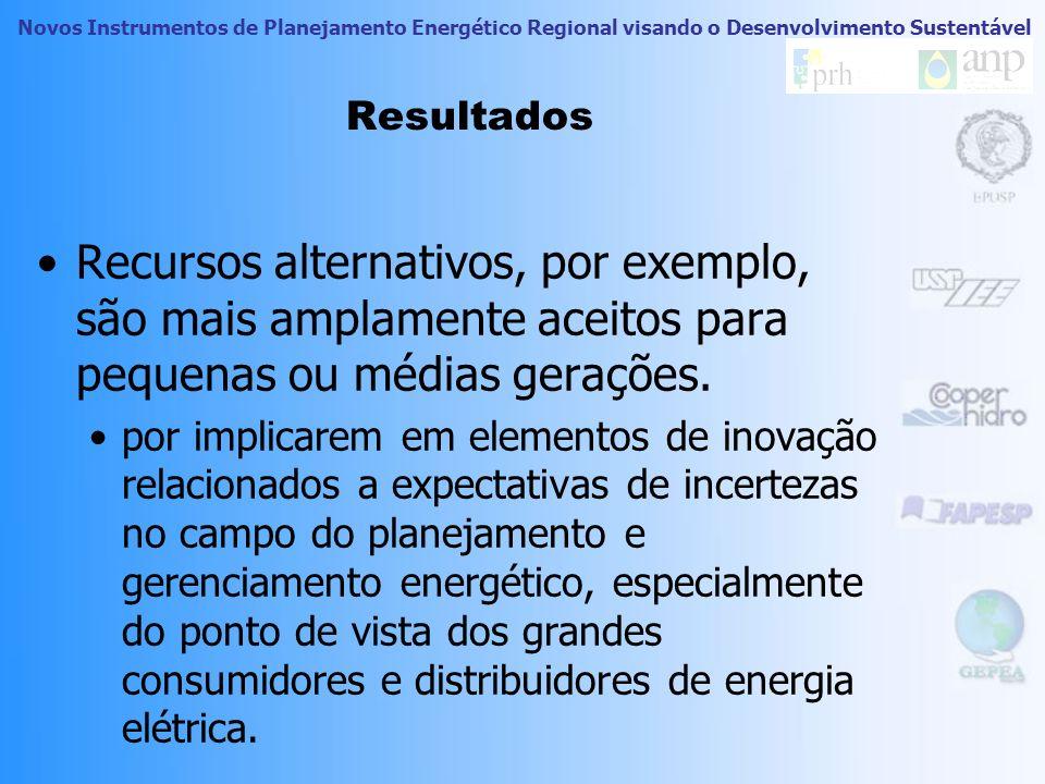Resultados Recursos alternativos, por exemplo, são mais amplamente aceitos para pequenas ou médias gerações.