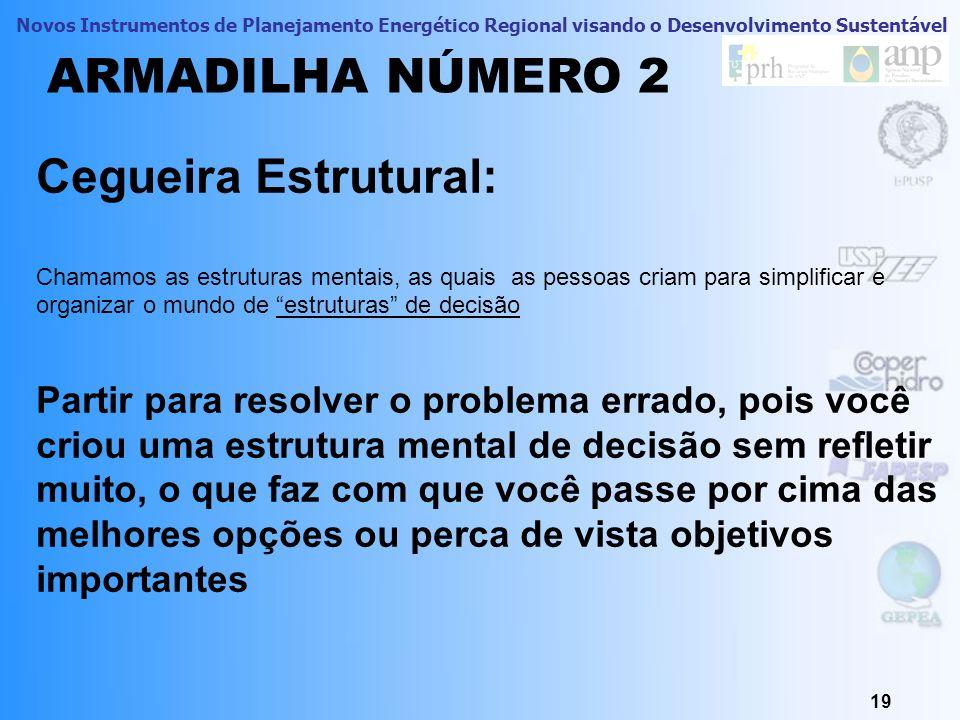 ARMADILHA NÚMERO 2 Cegueira Estrutural:
