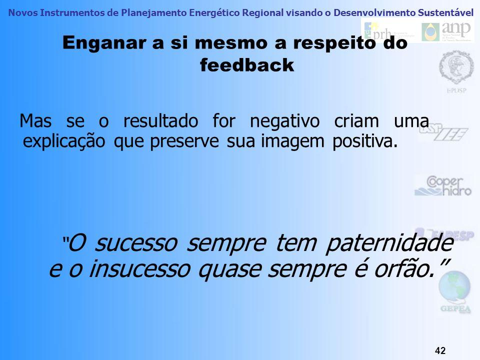 Enganar a si mesmo a respeito do feedback