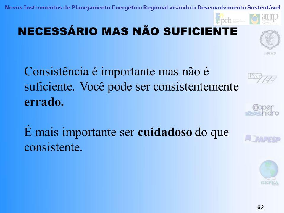 NECESSÁRIO MAS NÃO SUFICIENTE