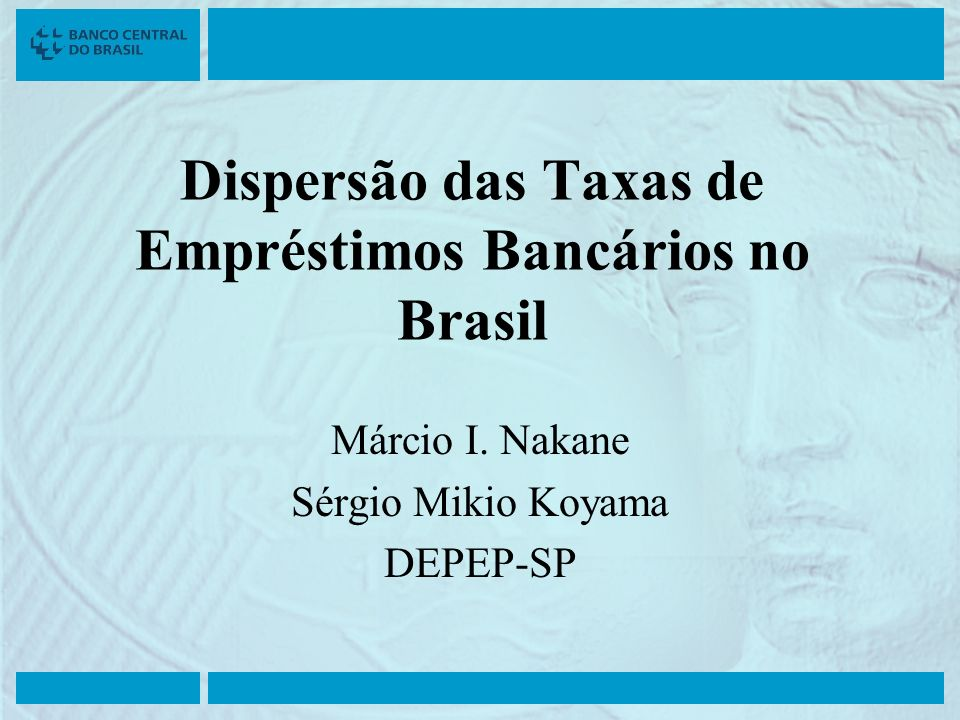 Dispersão das Taxas de Empréstimos Bancários no Brasil