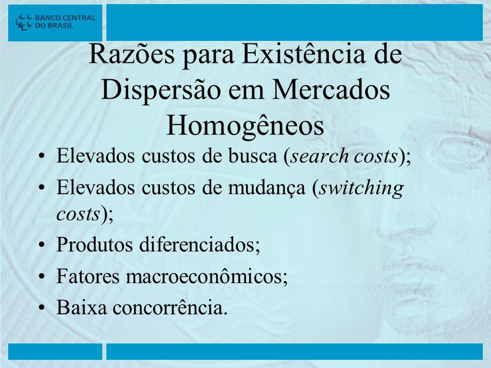 Razões para Existência de Dispersão em Mercados Homogêneos