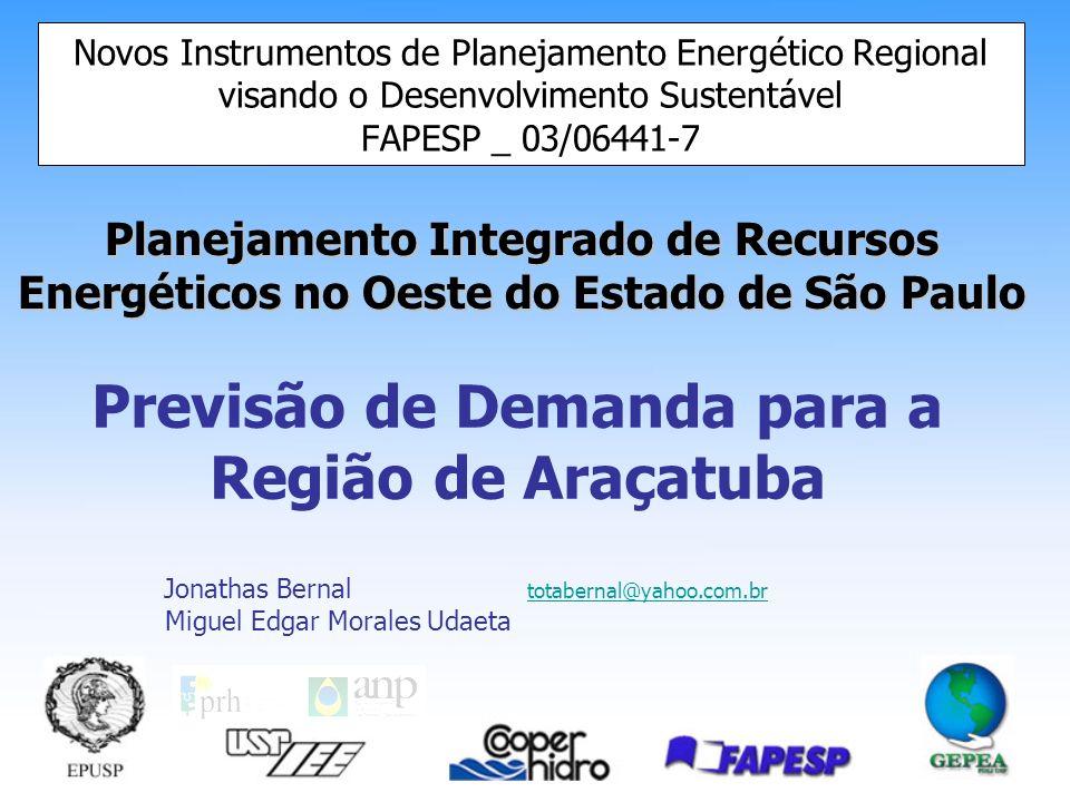 Previsão de Demanda para a Região de Araçatuba