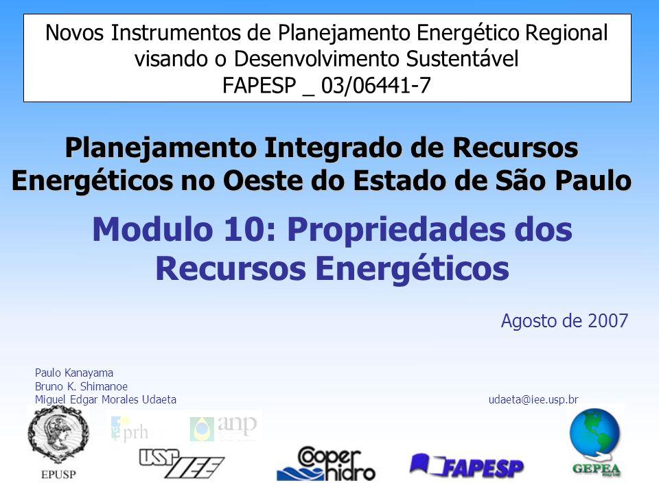 Modulo 10: Propriedades dos Recursos Energéticos