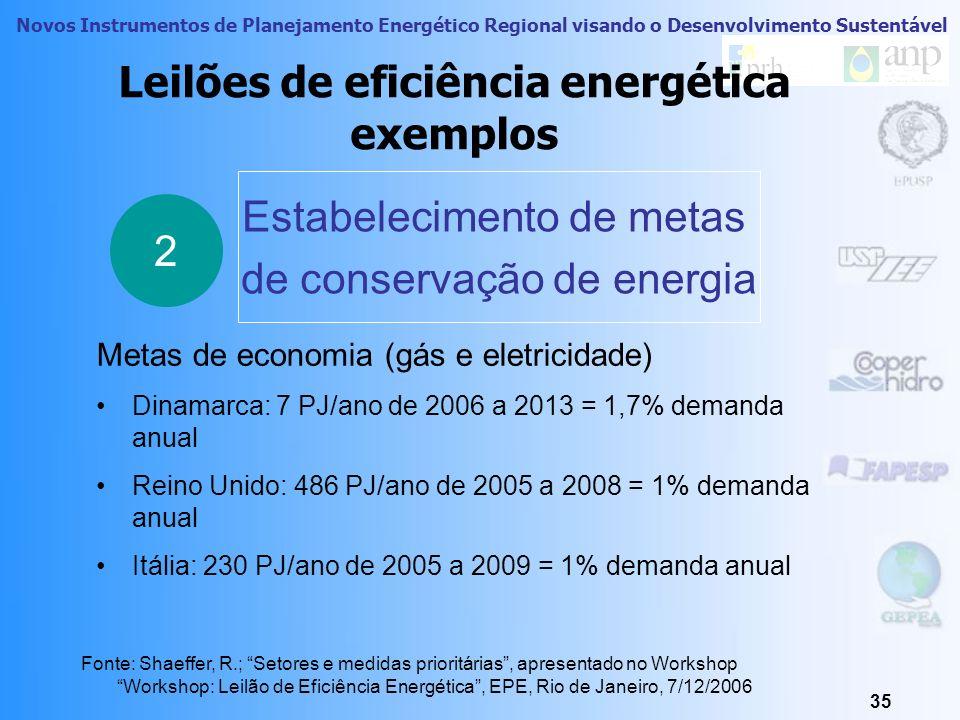 Leilões de eficiência energética exemplos