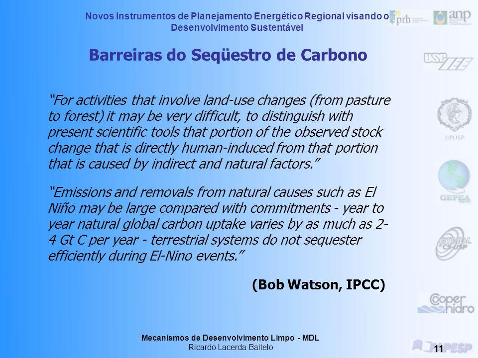 Barreiras do Seqüestro de Carbono