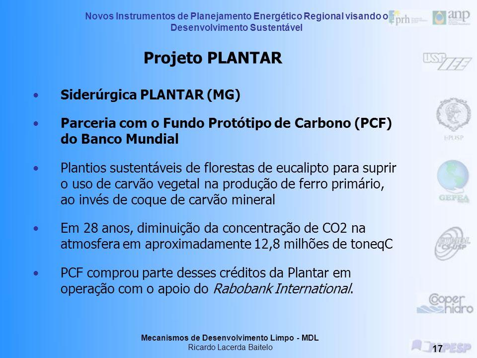 Projeto PLANTAR Siderúrgica PLANTAR (MG)