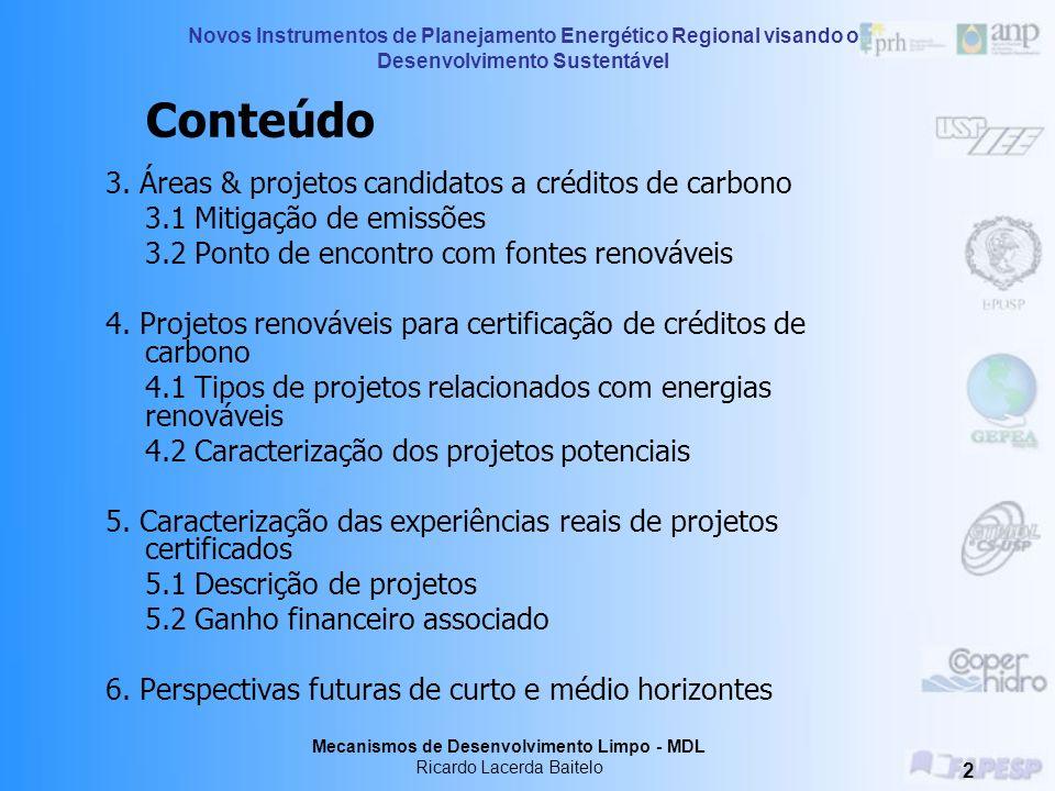 3. Áreas & projetos candidatos a créditos de carbono