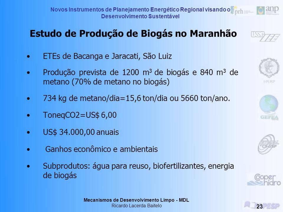 Estudo de Produção de Biogás no Maranhão