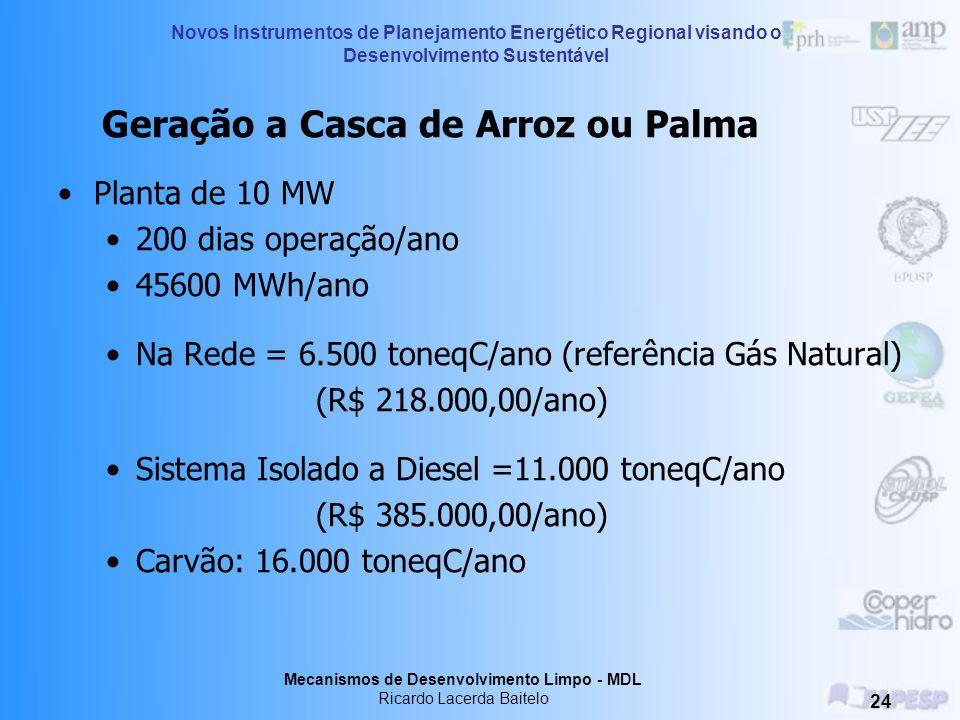 Geração a Casca de Arroz ou Palma