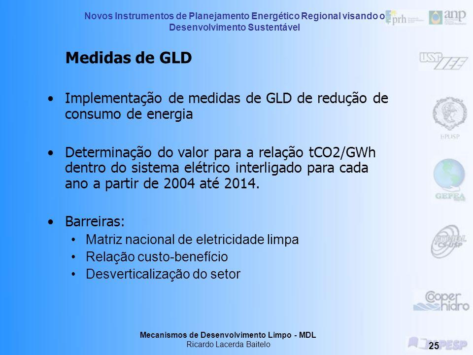 Implementação de medidas de GLD de redução de consumo de energia