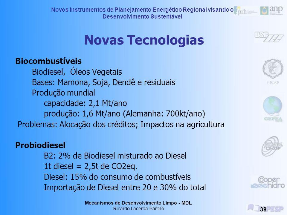 Novas Tecnologias Biocombustíveis Biodiesel, Óleos Vegetais