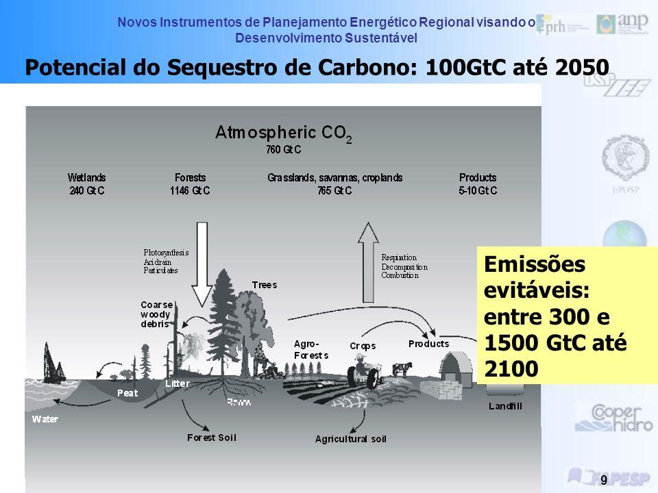 Potencial do Sequestro de Carbono: 100GtC até 2050