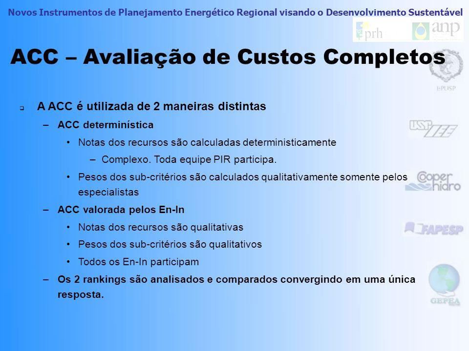ACC – Avaliação de Custos Completos