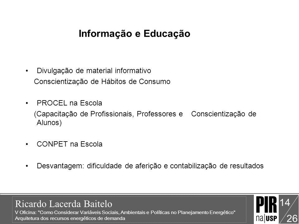 Informação e Educação Divulgação de material informativo