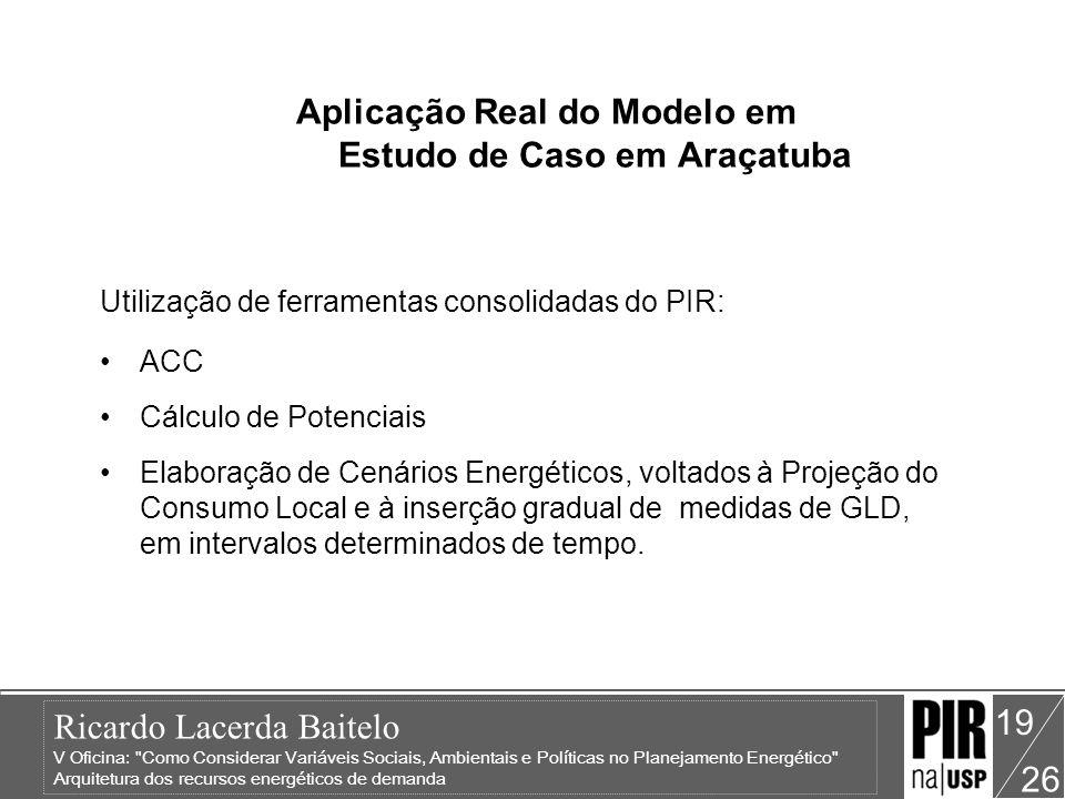Aplicação Real do Modelo em Estudo de Caso em Araçatuba