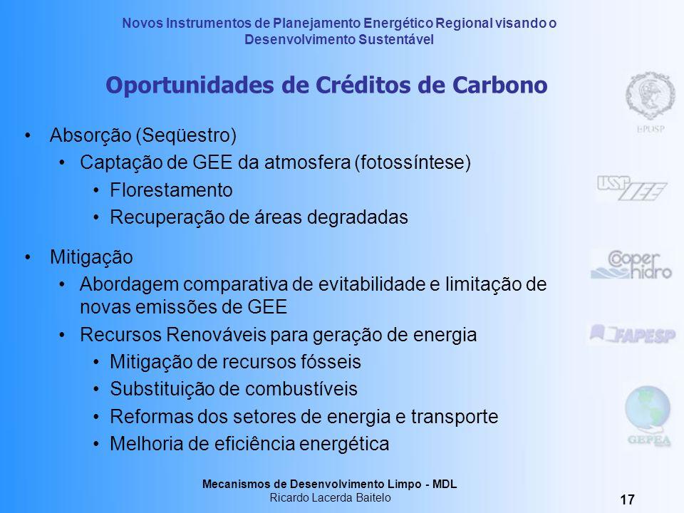Oportunidades de Créditos de Carbono