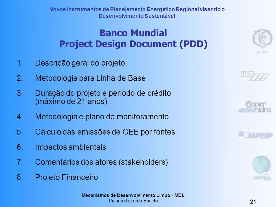 Banco Mundial Project Design Document (PDD)