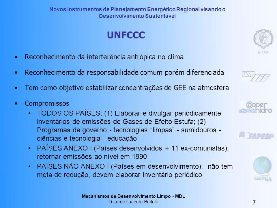 UNFCCC Reconhecimento da interferência antrópica no clima
