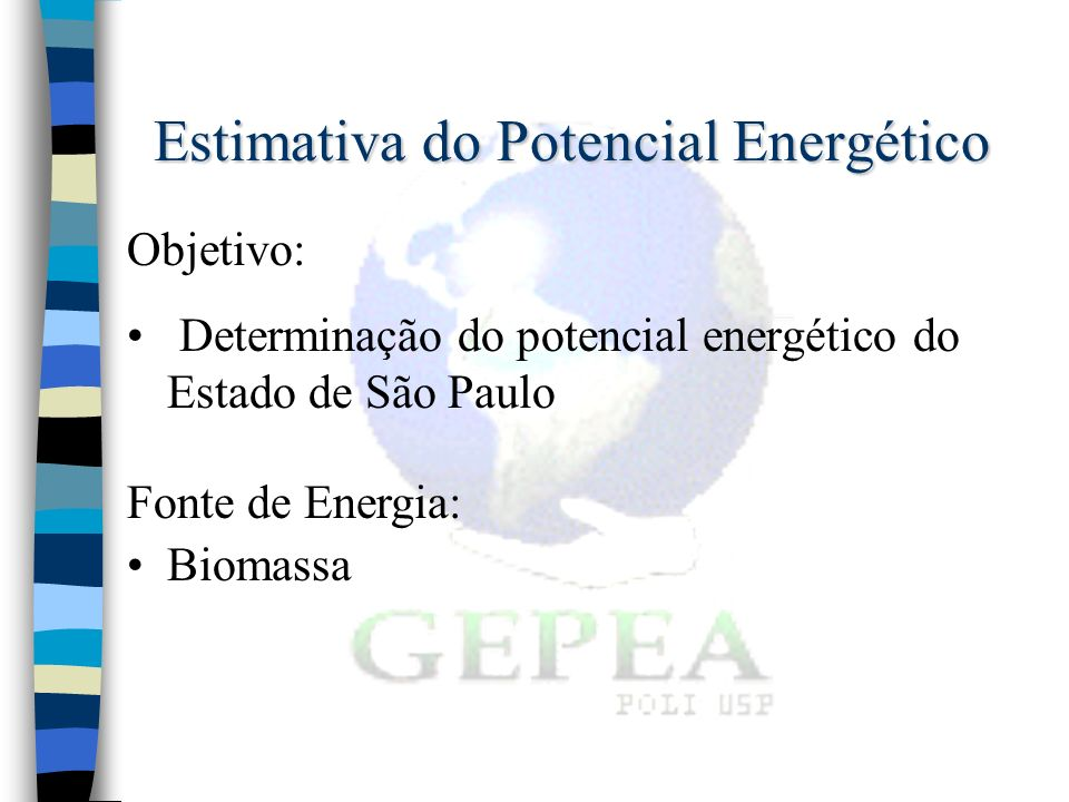 Estimativa do Potencial Energético