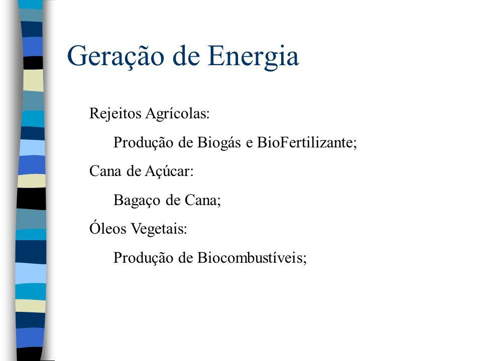 Geração de Energia Rejeitos Agrícolas: