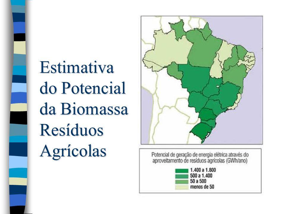 Estimativa do Potencial da Biomassa Resíduos Agrícolas