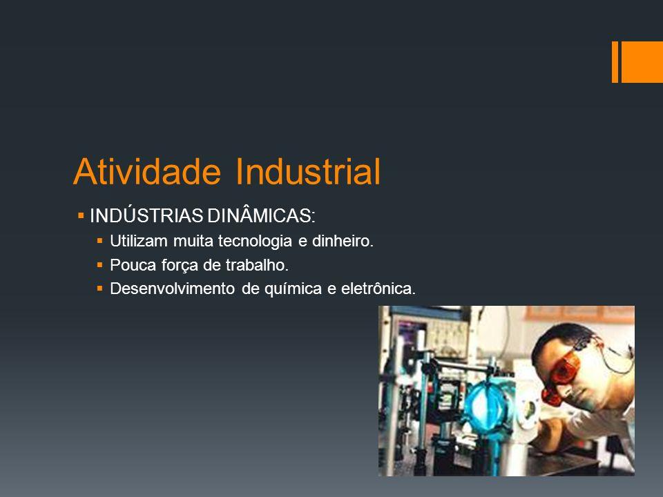 Atividade Industrial INDÚSTRIAS DINÂMICAS: