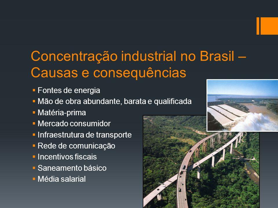Concentração industrial no Brasil – Causas e consequências