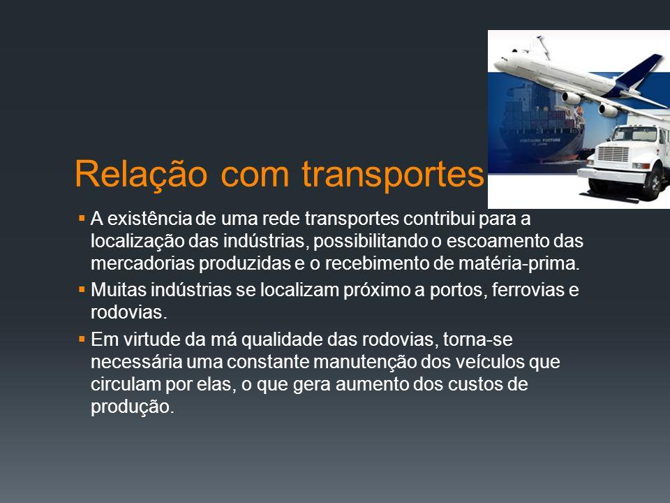Relação com transportes