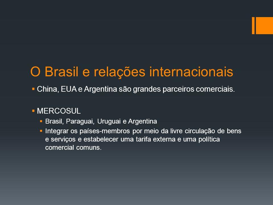 O Brasil e relações internacionais